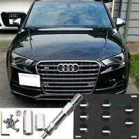 Bumper Tow Hook License Plate Mount Bracket For Audi A4 S4 A5 A7 RS7 2008-2017