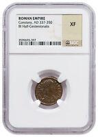 Roman Empire Billon Half-Centenionalis of Constans (AD 337-350) NGC XF SKU47611