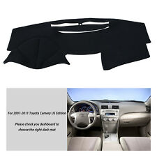 Fly5D Car Dash Mat Fits For Toyota Camry 2007-2011 Black Dashboard Cover Pad Mat