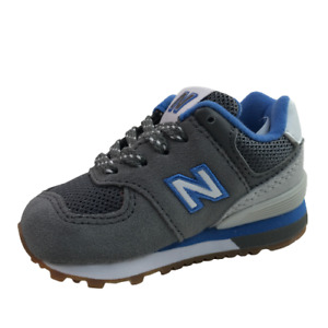 New Balance Navy kids Infant Suede Sneakers Shoes 4 Medium blue gray white