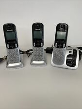Panasonic KX-TGC220S Cordless Phone Answering Machine 3 Handsets -Tested & Works