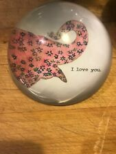 Sugarboo Designs Pink Elephant I Love You Paper Weight