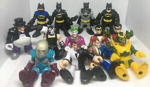 "Imaginext DC Universe 3"" Figures  (Lot Of 13) Batman Bane Joker Robin Freeze"