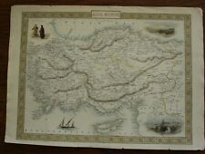 Tallis Map of Asia Minor Hand Coloured published 1851