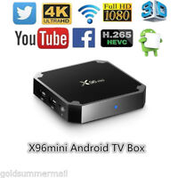 X96mini Smart TV Box Android 7.1.2 WiFi 1GB+8GB Quad Core 4K HD Mini PC UK Plug