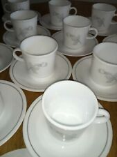 BEAUTIFUL EXCELLENT CONDITION SET OF 14 Cups 15 Saucers CORELLE SILVER ROSE !!