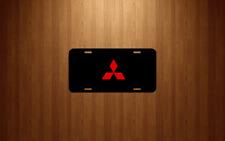 Mitsubishi Black License Plate tag car truck suv