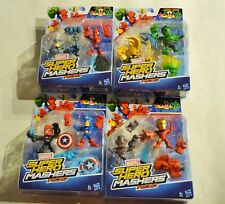 Marvel Super Hero Mashers 8 Micro Figuren Spiderman Captain America Rhino Skull