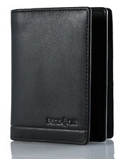 Samsonite Rhode Island Credit Card Wallet Black Cowhide Leather