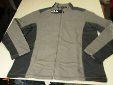 FILA SPORT FLEECE RUNNERS JACKET MENS SZ XXL -GRAY- NWT