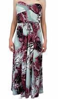 Caroline Morgan Womens Grey/Pink Strapless Long Maxi Dress Size 14