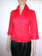 Tally Weijl Womens Red Business Office Casual 7/8 Manche Shirt Jacket Sz S ad93