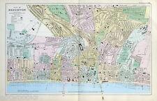 BRIGHTON  - Original Antique Map / Street Plan - BACON , 1907.