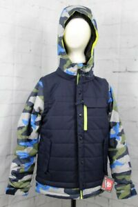686 Boy's Youth Scout Insulated Snow Jacket Medium, Navy Colorblock New 2020