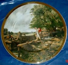 Large Collectors Plate A LOCK ON THE STOUR By JOHN CONSTABLE