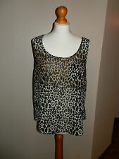 Internacionale Ladies Animal Print Top - Size 12
