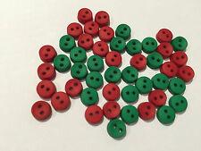 Pequeño Redondo Rojo Y Verde Vestido De Navidad Para Arriba Craft Botones