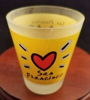 Collectible Barware Frosted Shot Glass San Francisco California