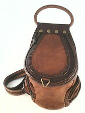 "EUC $279 IL Giglio Mini Backpack in Fine Italian Brown Leather 11"" x 8"" x 5.5"""