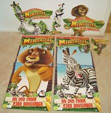NEW MINT 2005 madagascar lot CARDBOARD STAND Promotional DISPLAY  poster VIDEO
