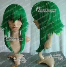 New Hot Sell ! COS VOCALOID GUMI Long Cosplay Dark Green Wig###