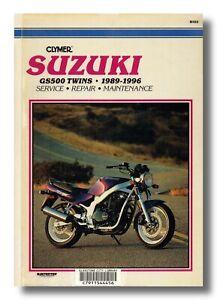 Clymer SUZUKI GS500 TWINS 1989-1996 service & repair manual motorbike