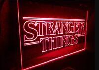 Cartel luminoso led stranger things sign light neon luz poster netflix tv serie