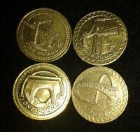 BRIDGE Design £1 One Pound Coin COMPLETE FULL SET of 4 Bridges