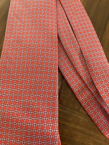 Red And White Men's Hermès Tie