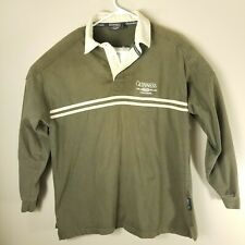 Guinness Official Merchandise Mens Brown Long Sleeve Collared Rugby Shirt XL