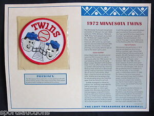 1972 MINNESOTA TWINS Willabee & Ward LOST TREASURES OF BASEBALL TEAM LOGO PATCH