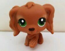 Littlest Pet Shop #252 Cocker Spaniel Dog Brown Green Eyes Red Magnet