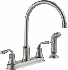 Delta Stainless Steel Kitchen Faucets With 2 Handles Ebay