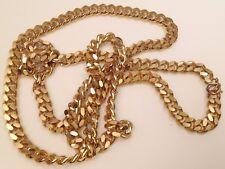 collier vintage chaine maille américaine lourd long couleur or rhodié 79grs 638