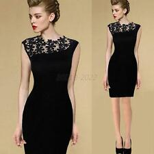 Elegant Womens Lace Crochet Party Cocktail Bodycon Mini Dress Size S-XXL Fashion