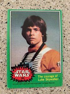 Star Wars 1977 GREEN Border Trading Card #263 LUKE SKYWALKER LEIA ONE CENT SALE