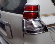 Chrome Rear Tail Light Lamp Cover Trim For Toyota PRADO FJ150 2011 2012 2013