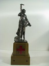 """WWI WWII Medical Red Cross Lady Victory 15"""" Statue / Trophy  - Schridde Chicago"""