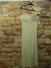 Night Way Off White Dress Size 14 Plited front  Top Formal Long