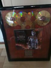 Michael Jackson *RARE* History 5 X Platinum Sony Belgium Award