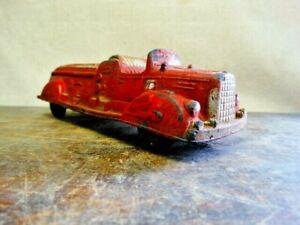Antique Auburn Rubber USA FD Fire Department Toy Fire Truck 1940's