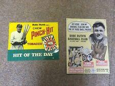 2 X Babe Ruth Baseball MLB Tin Signs for Man Cave / Garage  New York Yankees
