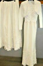 cf6eef101075 A21 VNTG S2 Halter Wedding Bridal Gown Dress Bolero Jacket Pearl Beaded  Lattice