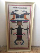 Tela Textil Sudamericana Sampler sin firmar en reverso Tejido Ecuador 1973