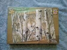 Master Pieces 550 PC Puzzle Fleeting Glimpse Wolf Puzzle Sealed David Wenzel