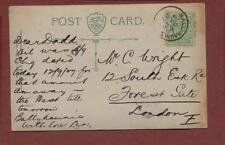 Mr C Wright, 12 South Esk Road, Forest Gate, London 1907 - Son, Len    qj177
