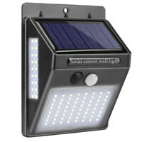 100 Led LumièRe Solaire Murale ExtéRieure Solaire Lampe de Capteur de Mouvem 2i6