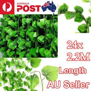 24X 2.2M Artificial Ivy Vine Fake Foliage Hanging Leaf Garland Plant Party Decor