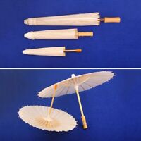 Vintage Chinese Handcrafted Parasol Bamboo Rice Paper Dragons Birds Umbrella Ebay