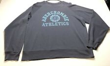 Abercrombie & Fitch Sweatshirt Adult XL Blue Long Sleeve Crew Neck Logo Spellout